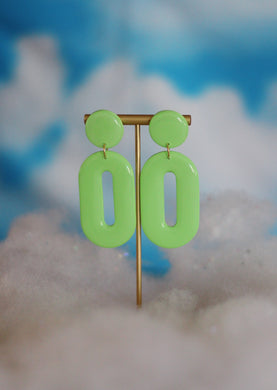 *SALE* Mint Mod Oval Hoops