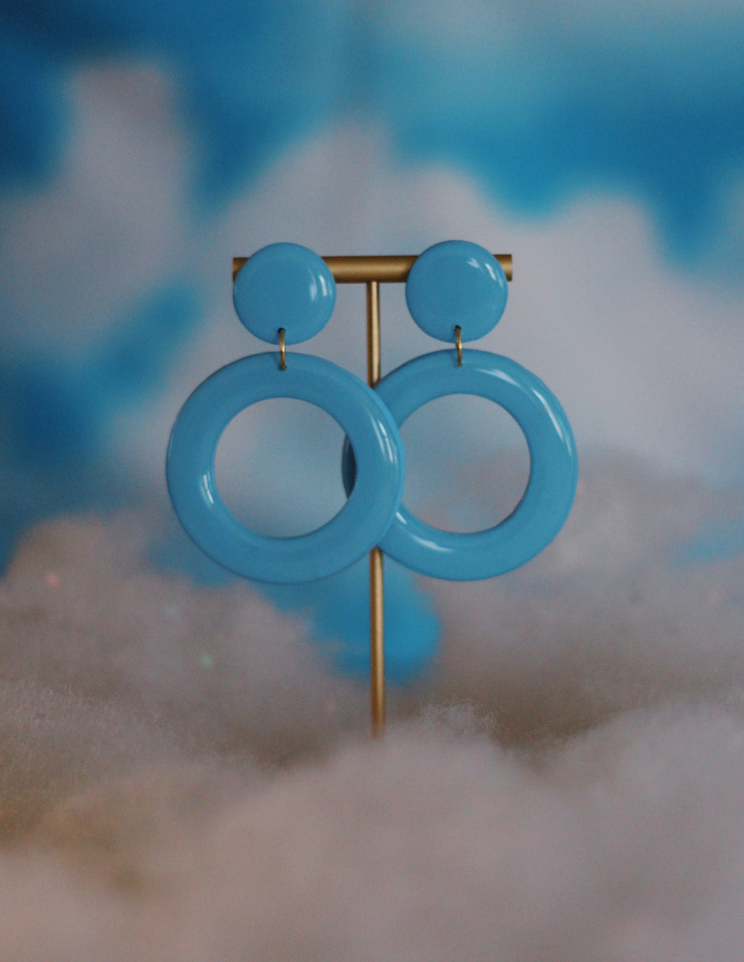 Baby Blue Thin Hoops