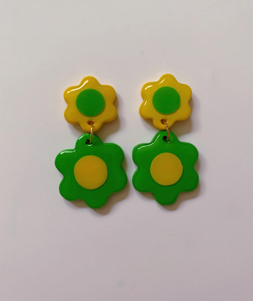 Green and Yellow Mini Double Daisies