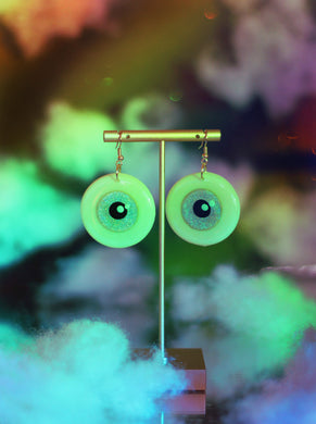 Rainbow Sparkle Eyeball Dangles