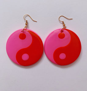 Red and Pink Yin-Yangs