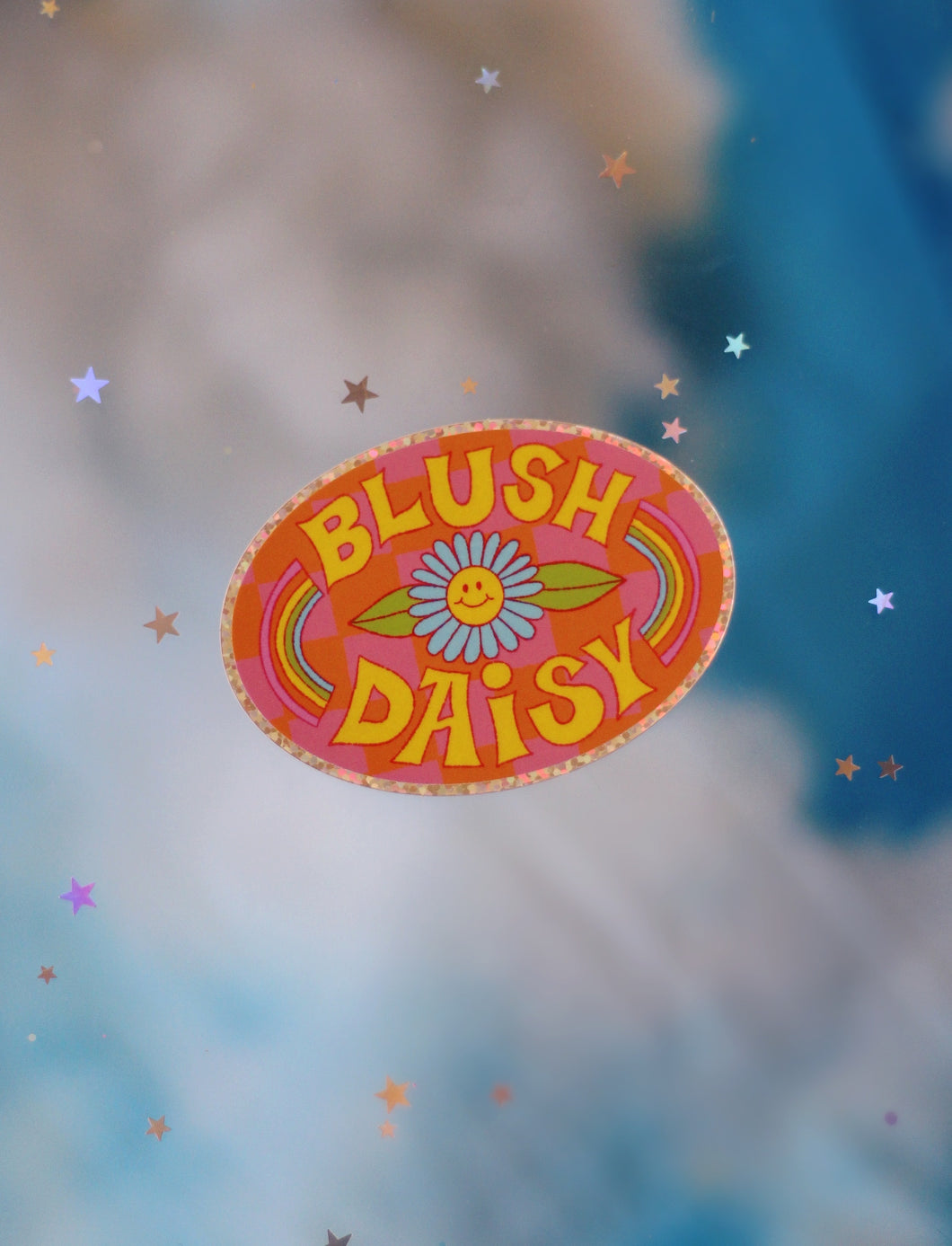 Blush Daisy Sticker