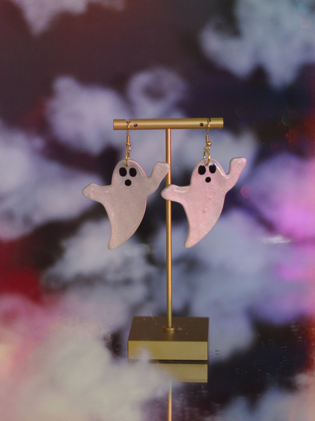 Sparkly Ghost Dangles