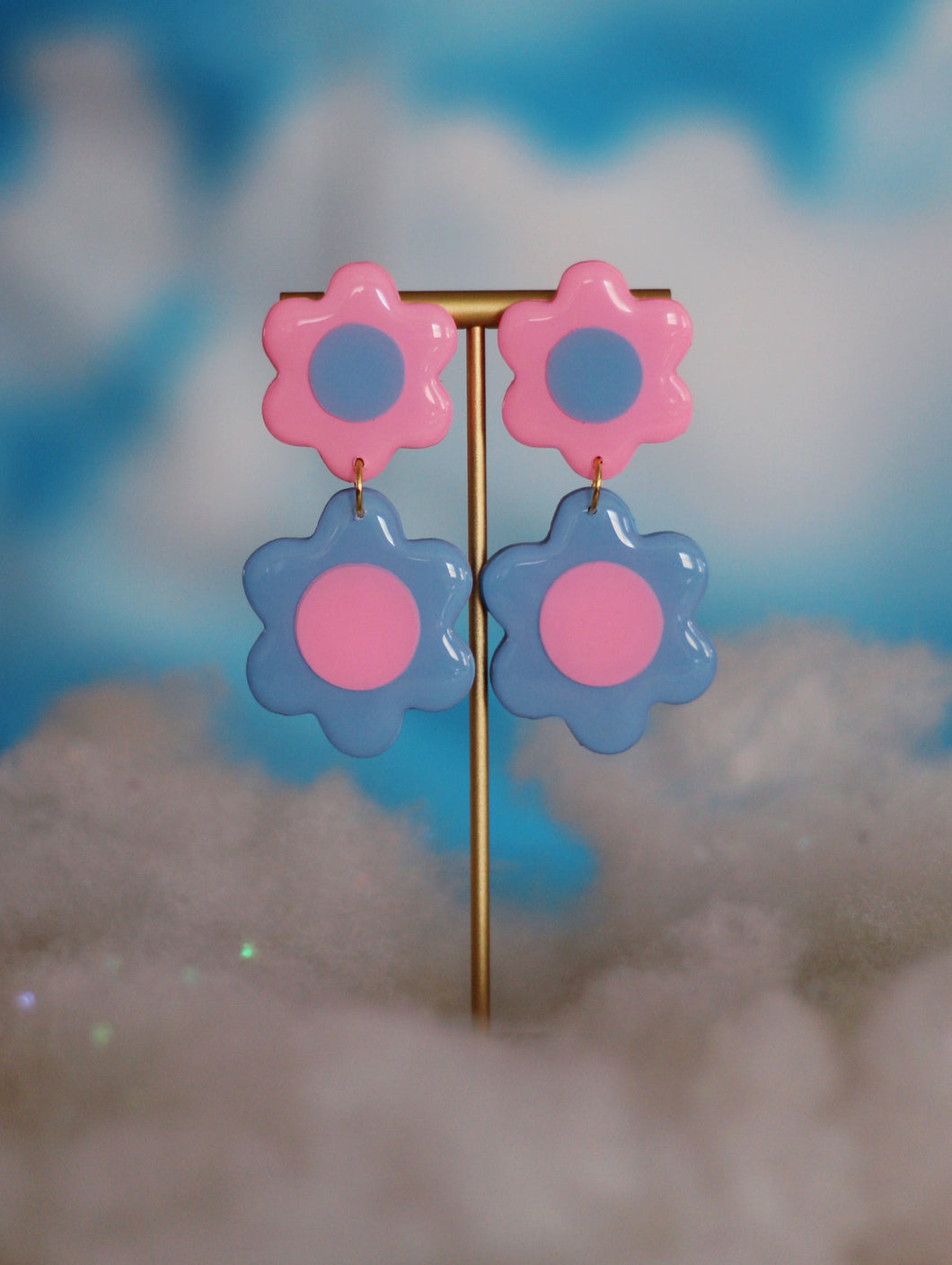 *SALE* Blue and Pink Double Daisies