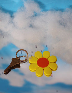 *SALE* Yellow and Orange Daisy Keychain