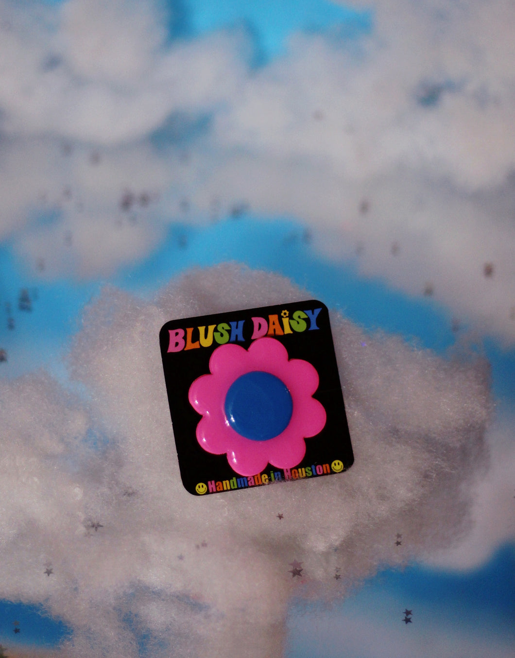 Pink and Blue Daisy Pop