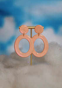 Peach Opalescent Ovals