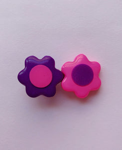 Pink and Purple Daisy Barrette