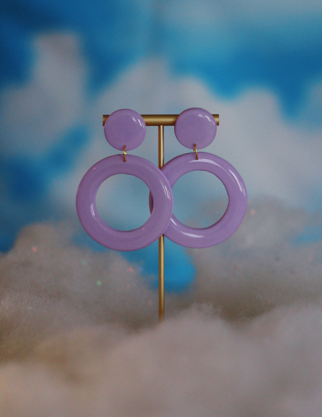 Lavender Thin Hoops