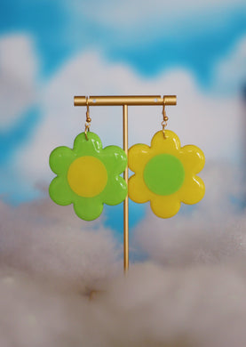Mint and Lemon Mix & Match Daisy Dangles