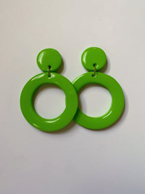 Green Thin Hoops