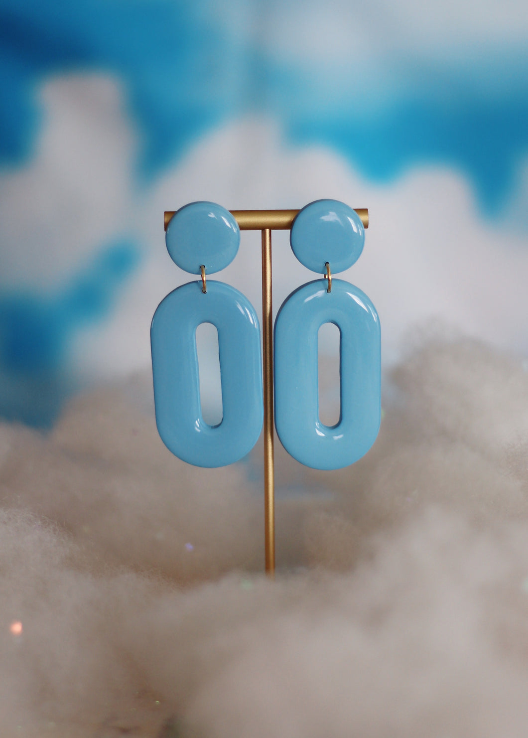 *SALE* Baby Blue Mod Oval Hoops