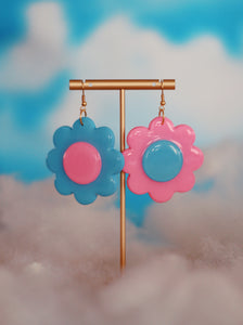 Pink & Blue Mix & Match Daisy Dangles