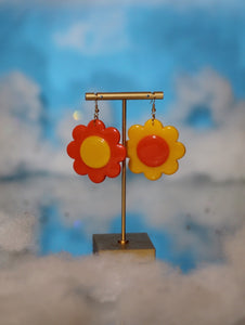 Yellow and Orange Mix & Match Daisy Dangles