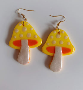 Yellow and Orange Mushroom Dangles