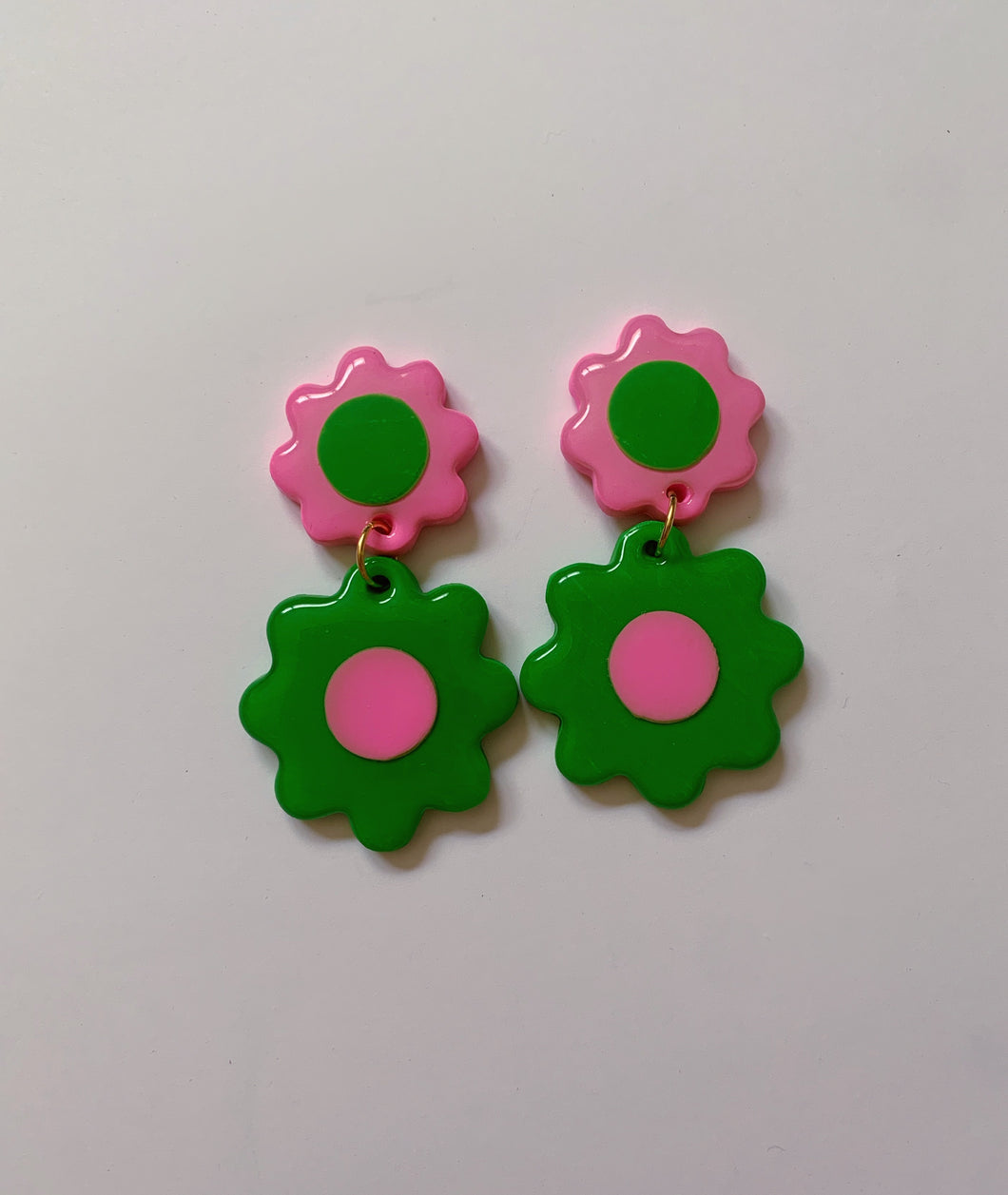 Green and Pink Double Daisies