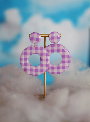 XL Purple Gingham Hoops