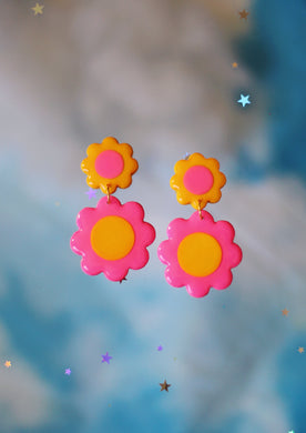 *SALE* Pink and Yellow Double Daisies