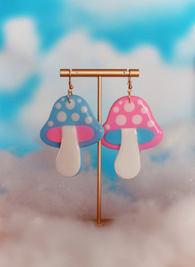 *SALE* Big Pink and Blue Mix & Match Mushrooms