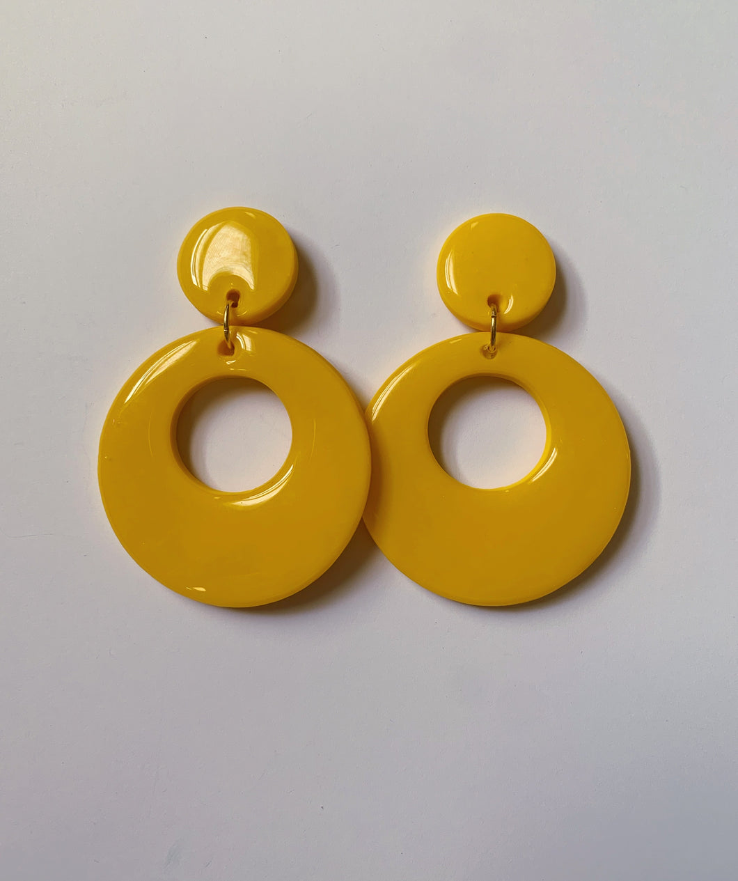 *SALE* Yellow Mod Hoops