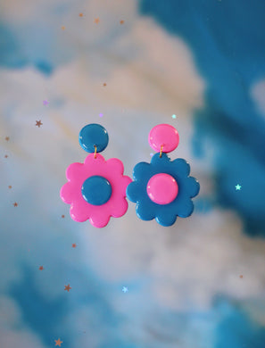 Pink and Blue Mix and Match Daisies
