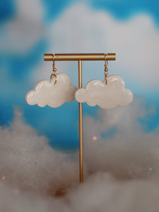 Sparkly Cloud Dangles