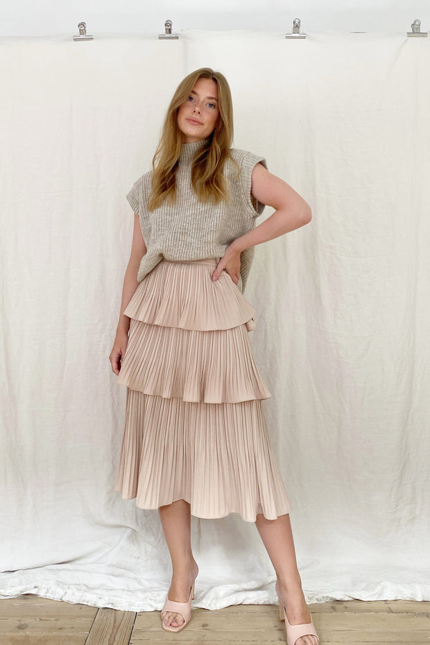 PARIS SKIRT - NUDE