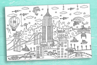 Unique Designs - New York Coloring Poster
