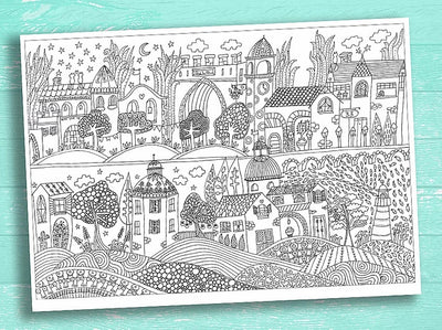 Unique Designs - Tuscany Coloring Poster