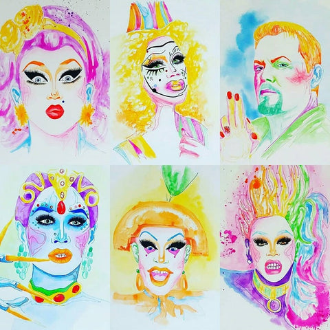 Drag Queen artwork celebrating Pride