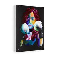 'Boxing Queen' Stretched Canvas