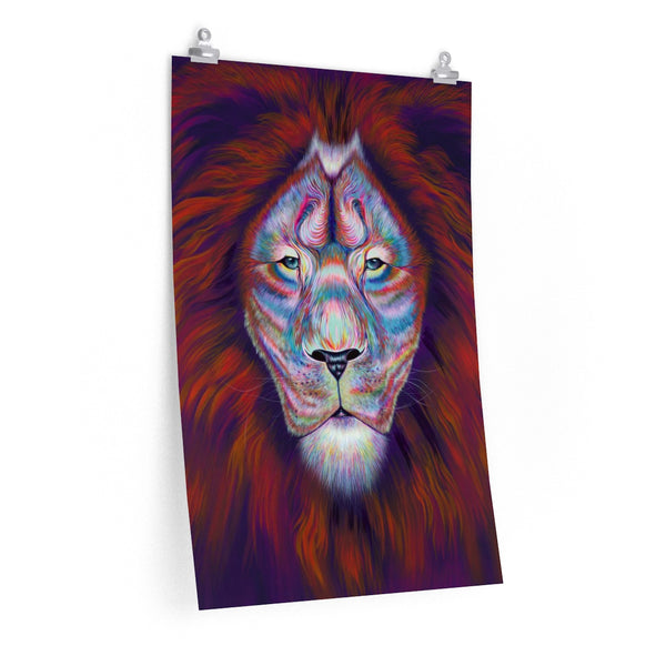 Psychedelic Lion poster print on finest 264gsm heavy weight paper with photo satin finish