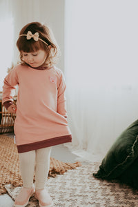 Earth Love Sweater Dress Beary Pink