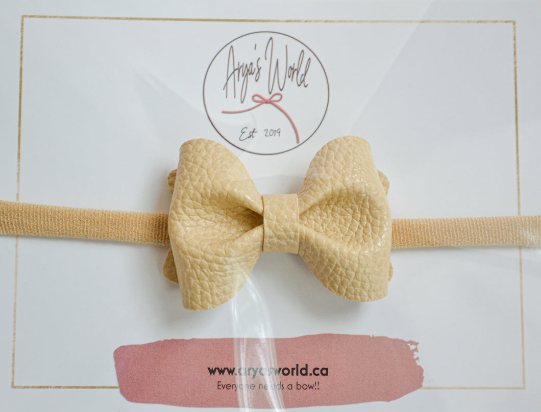 Small Off White Audrey Bow
