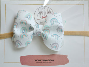 Rainbow Audrey Bow