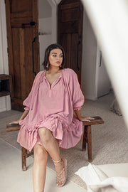 INDAH DUSTY ROSE TUNIC DRESS