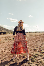 Coral Marrakesh Maxi Skirt