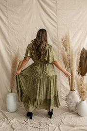 Olive Meadow Gown