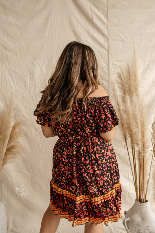 Dawn Marrakesh Off Shoulder Mini Dress