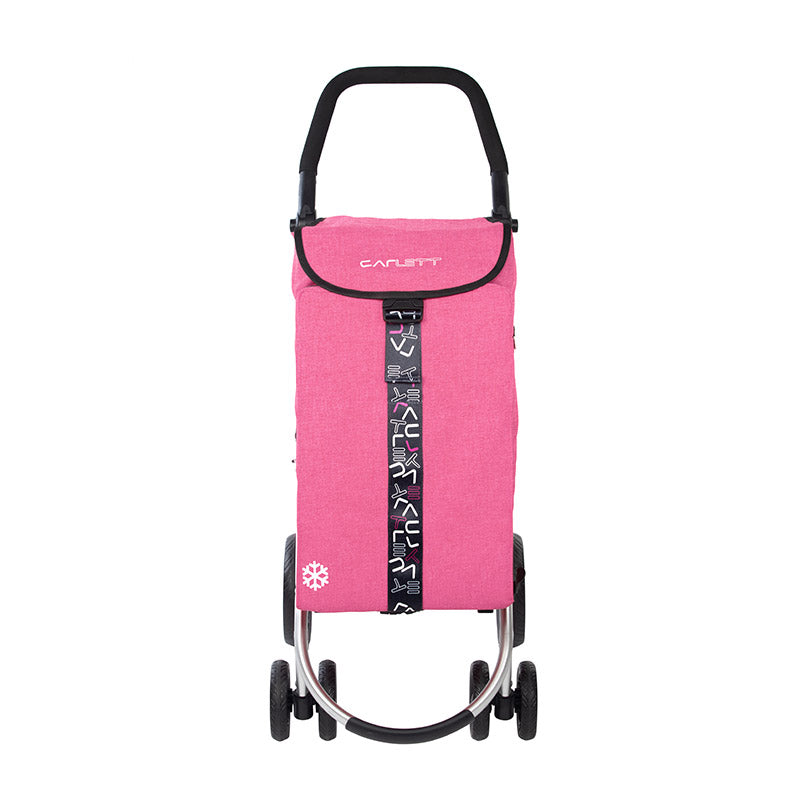 LETT460 Stylish 4 wheel Shopping Trolley Cart, Cooler Bag, Brakes - CARLETT SHOPPING TROLLEYS AUSTRALIA