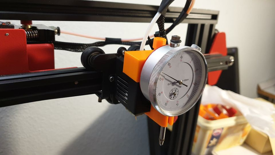 How to Use Dial Indicator with Printable Holder for Precise Print Bed Manual Leveling
