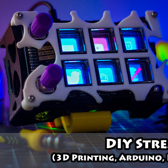 Make 3D Printed DIY Stream Deck with Arduino Microcontroller Board