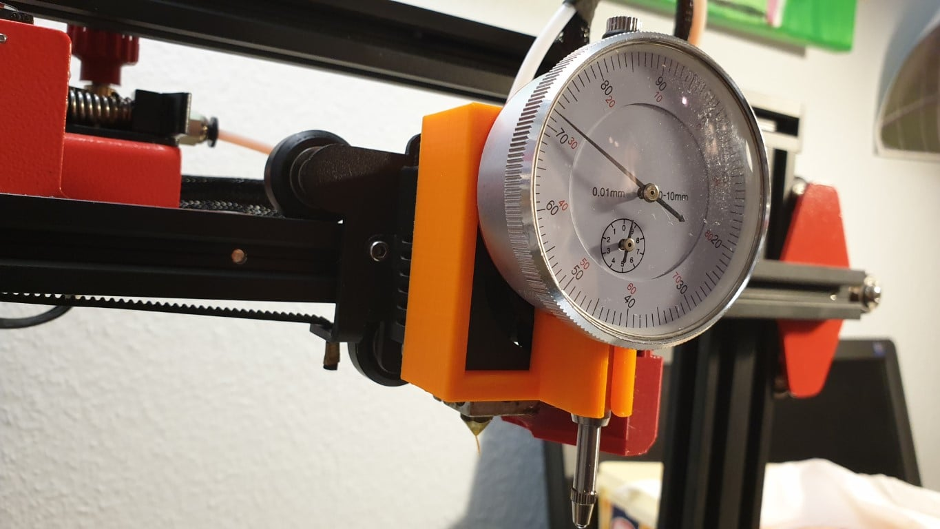 precise leveling on 3d printer with dial Indicator