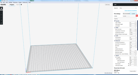 Ultimaker Cura settings of Anet ET4