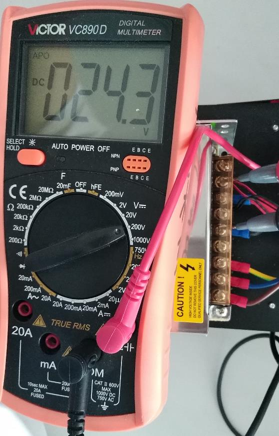 output voltage measurement on ac-dc power supply
