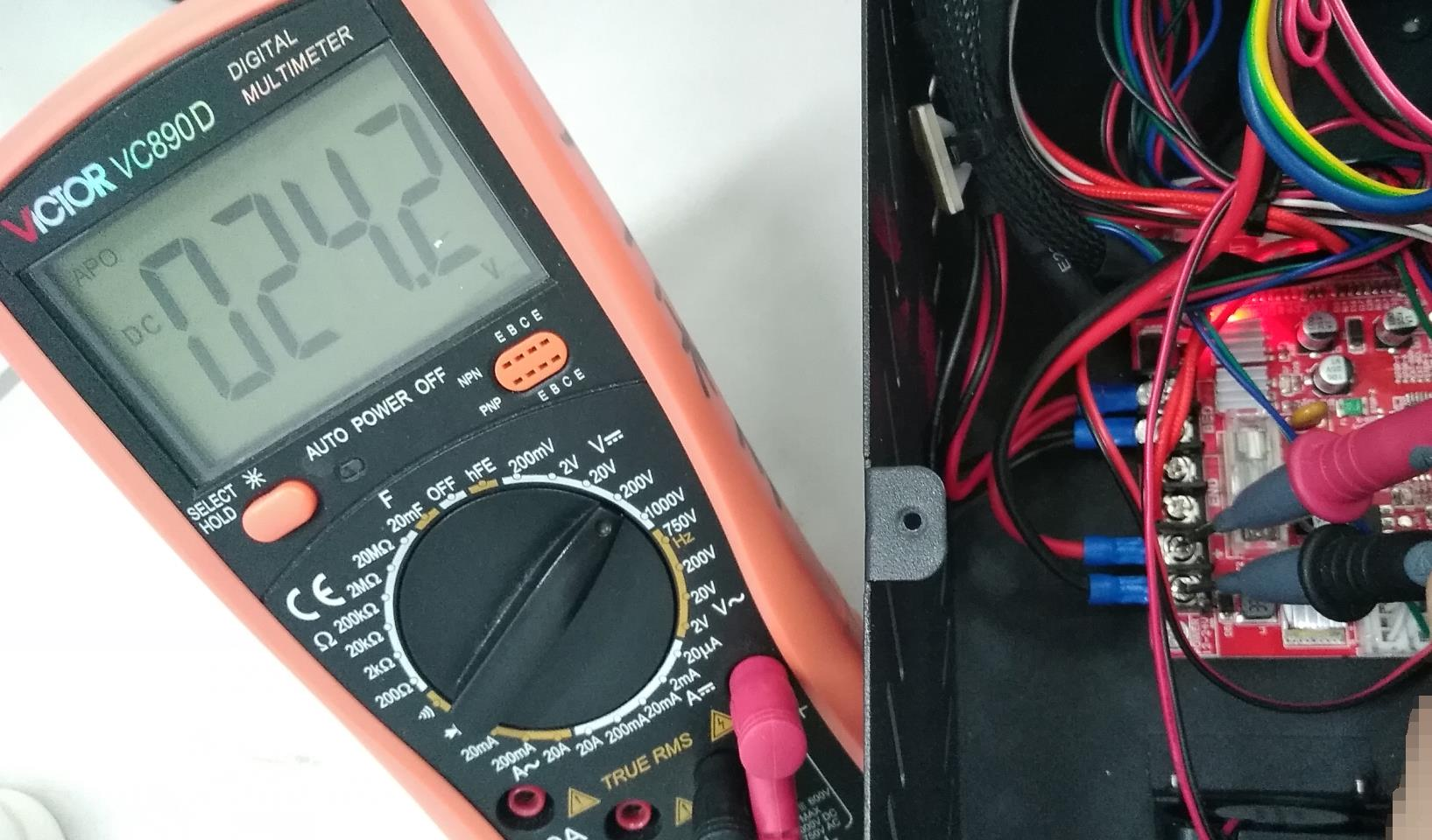 measure input voltage on the mainboard
