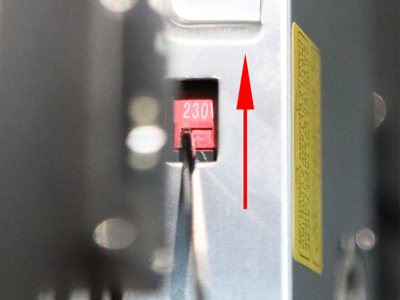 Voltage Switch (230V) on AC-DC Power Supply for ET4 Pro 3D Printer