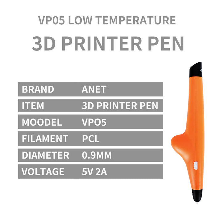 Anet Drawing VP05  3D Printing Pen PCL 1.75mm Filament free 2 rolls 3D pen Printer for Kids Birthday Present - Anet 3D Printer