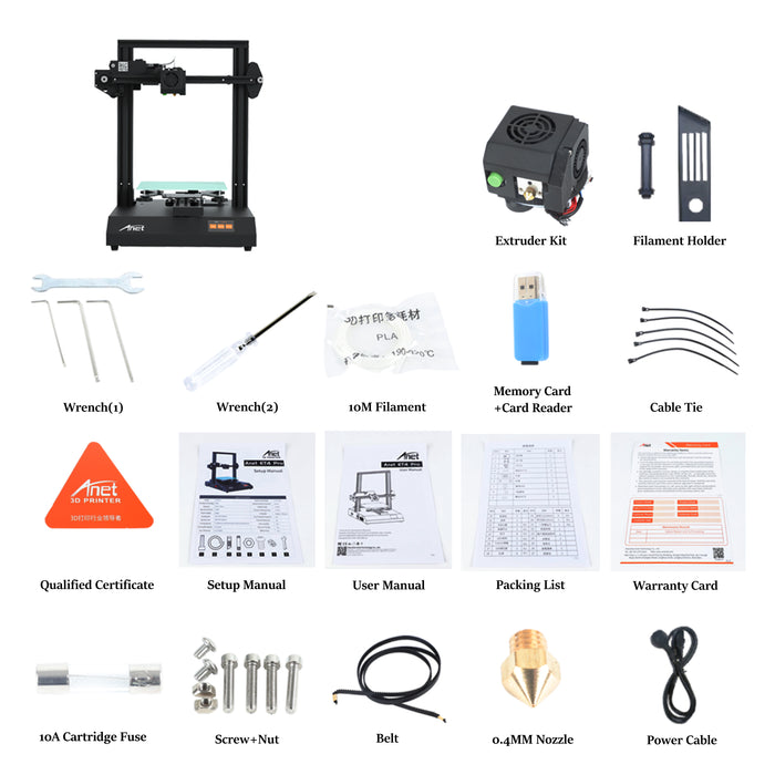 ET4 Pro 3D Printer 220*220*250mm With TMC2208 Stepper Driver - Anet 3D Printer