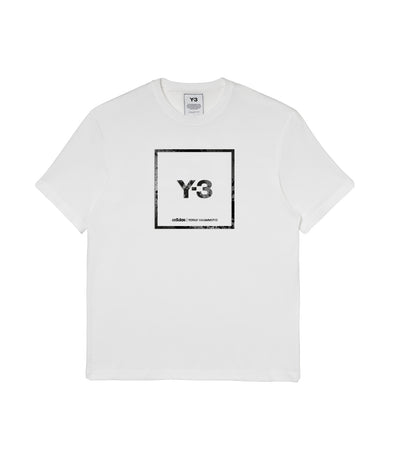 Y-3 SQUARE SS TEE WHITE